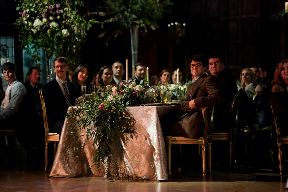 Devin-Dan-Winter-Wedding-Boston- Wedding-Destination-Wedding-Wedding-Planner-Nicole-Simeral-Harvard-Club-Decor-Flowers-Candles-Candlelight-Luxury-wedding-burgundy-purple-gold-faux-first-dance-bride-groom