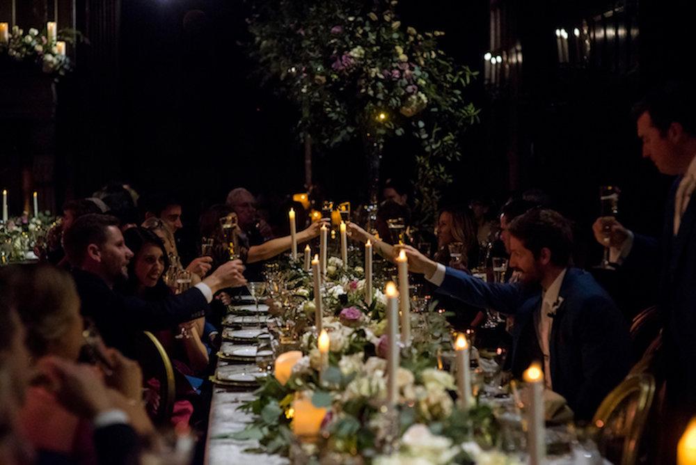 Devin-Dan-Winter-Wedding-Boston- Wedding-Destination-Wedding-Wedding-Planner-Nicole-Simeral-Harvard-Club-Decor-Flowers-Candles-Candlelight-Luxury-wedding-burgundy-purple-gold-faux-first-dance-bride-groom-toast