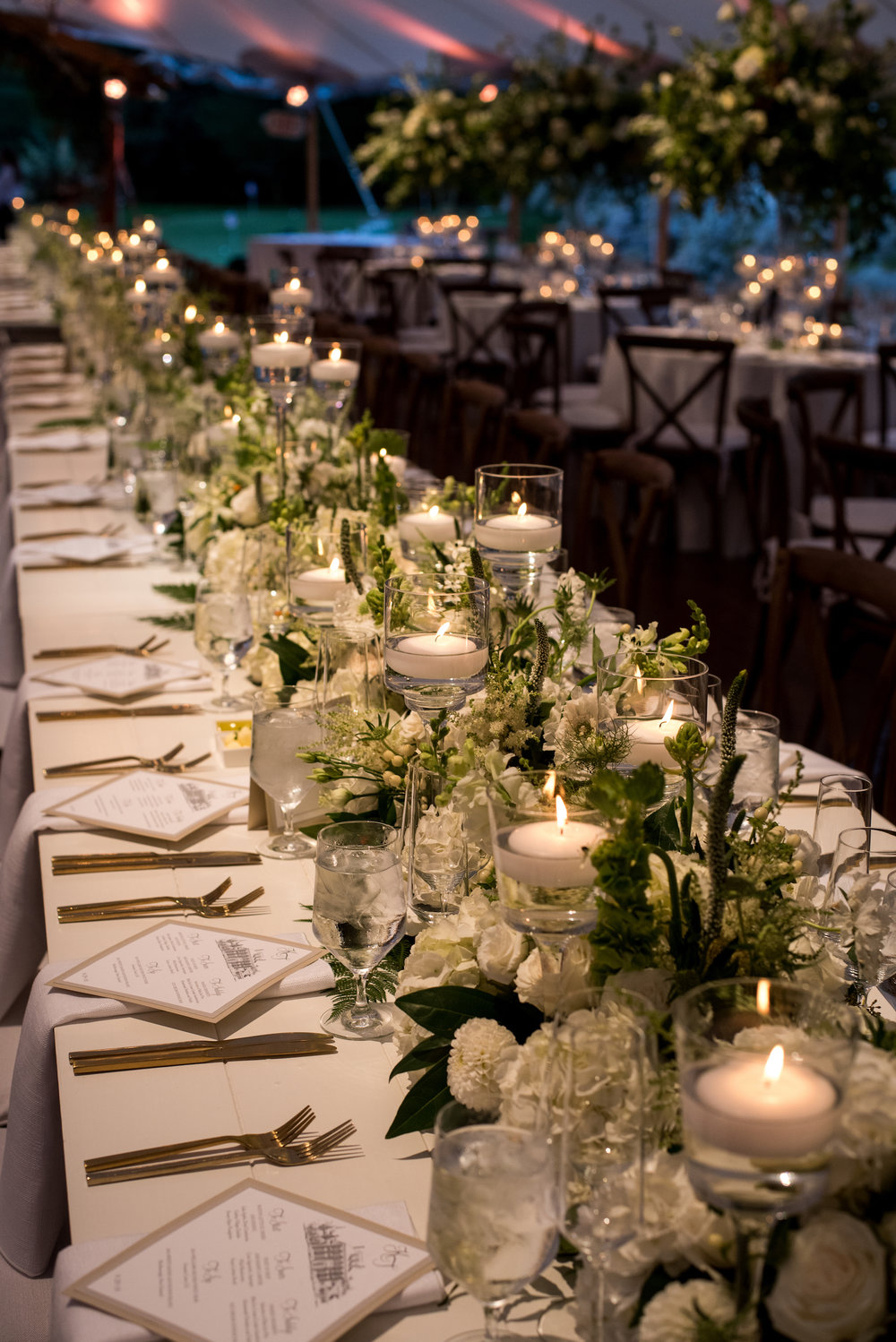 KATY-AND-TOM-HINGHAM-MASSACHUSETTS-WEDDING-DESTINATION-LUXURY-WEDDING-CATHOLIC-CHURCH-BACK-YARD-SPERRY-SAIL-CLOTH-TENT-COASTAL-CHIC-TIMELESS-ROMANTIC-FARM-TABLES-CHANDELIERS-CUSTOM-MENU-LONG-TABLES-RECTANGULAR-TABLES
