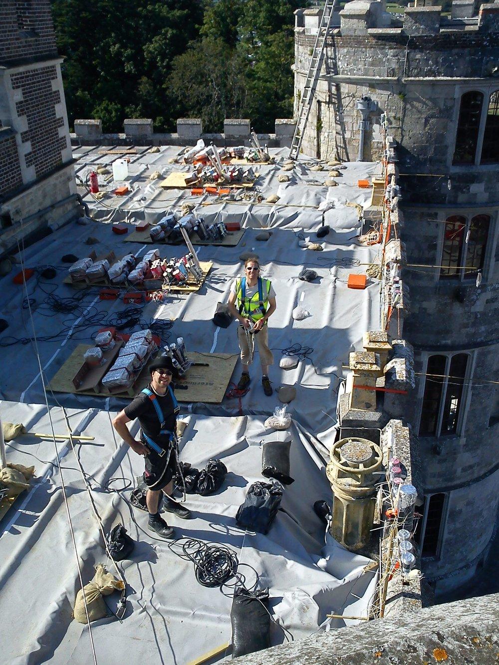 Lulworth Castle Roof July 2012 - Kirk & Hairy -2.JPG