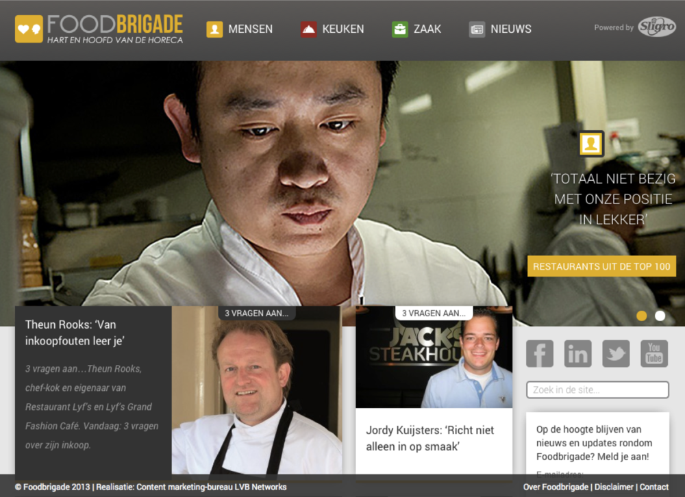 new food blog for chefs