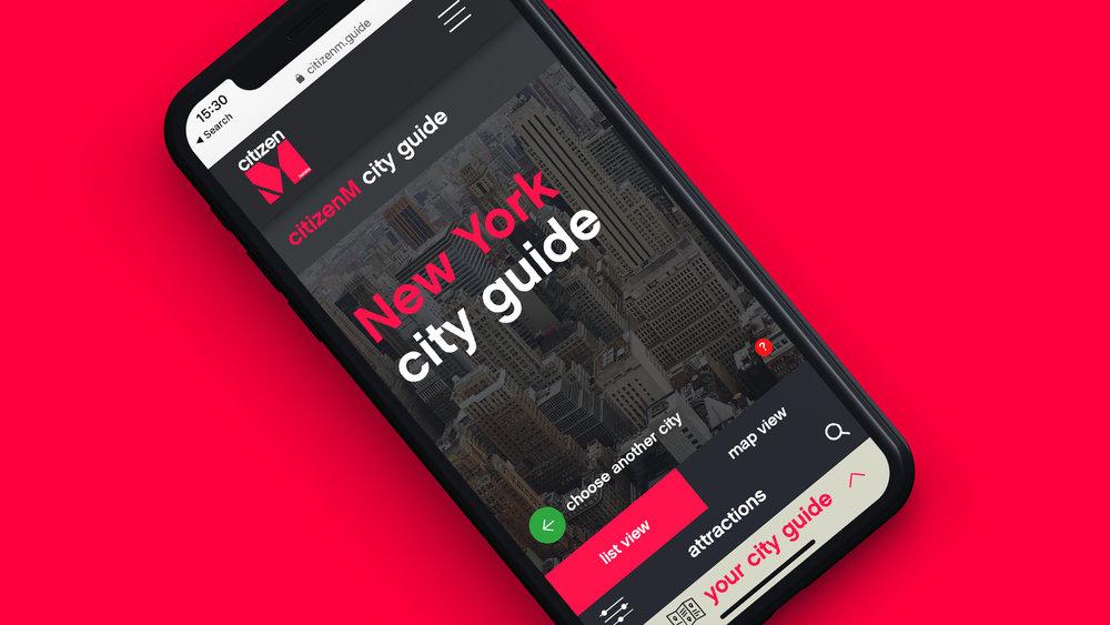citizenM - Web Design