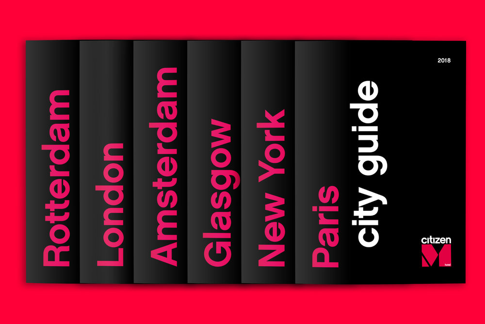 citizenM - Printed city Guides