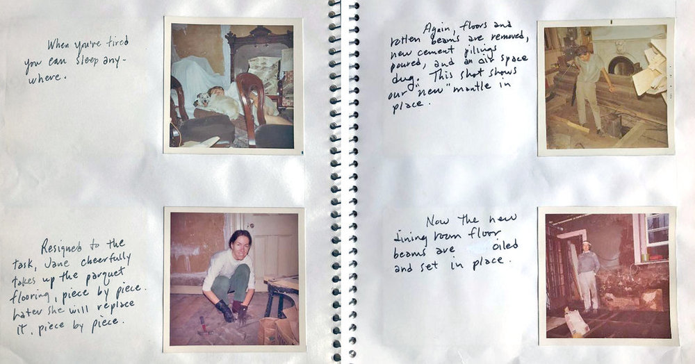 A Spread from Thor Rinden's renovation journals.