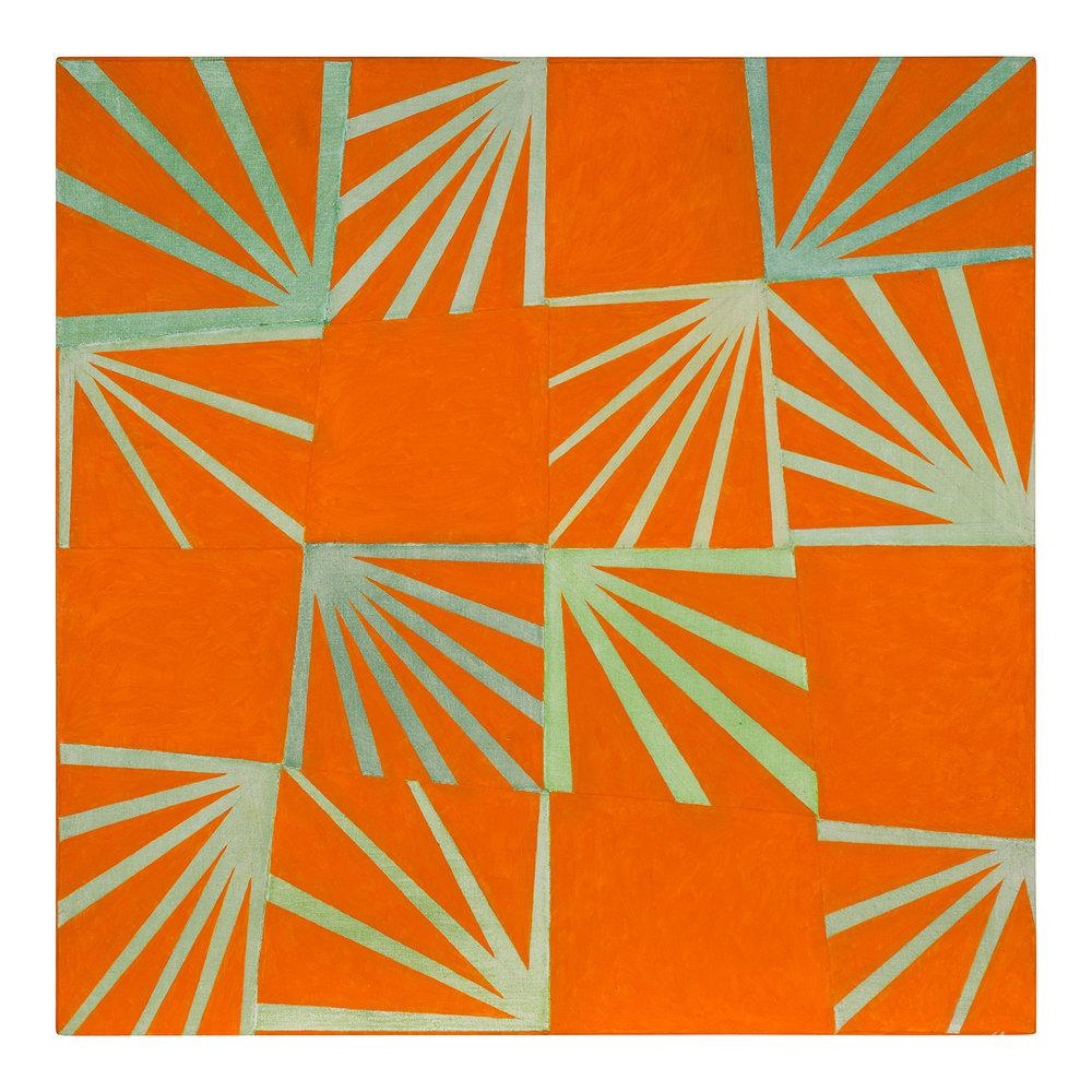 Orange Grove (1979).  oil on canvas, 30 x 30 inches