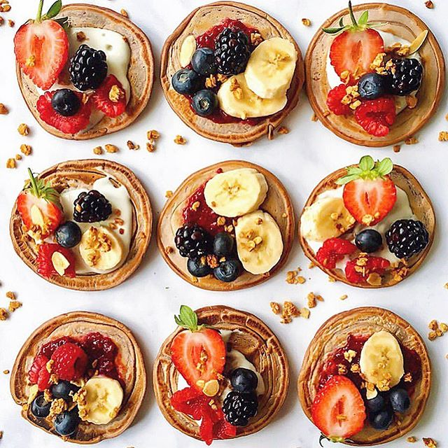 Today's Sunday Brunch can be a healthy one. Vegan Pancakes w/Fresh Fruits! • • • • • • • • • #americanpancakes #frenchtoast #pancake #pancakeart #pancakelover #pancakerecipe #pancakesday #pancakeslover #pancakes #plantpowered #vegancommunity #veganfoodshare #veganforlife #veganhealth #veganlove #veganshare #vegansofinstagram #vegan #tofuscramble #veganbreakfast #vegancomfortfood #veganfoodshare #veganideas #veganmeal #vegansalad #vegansnack #whatveganseat #veganbrunch