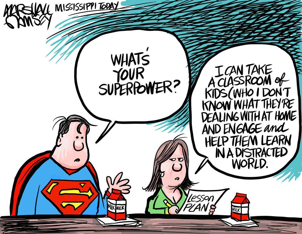 Teacher Superpower by Marshall Ramsey