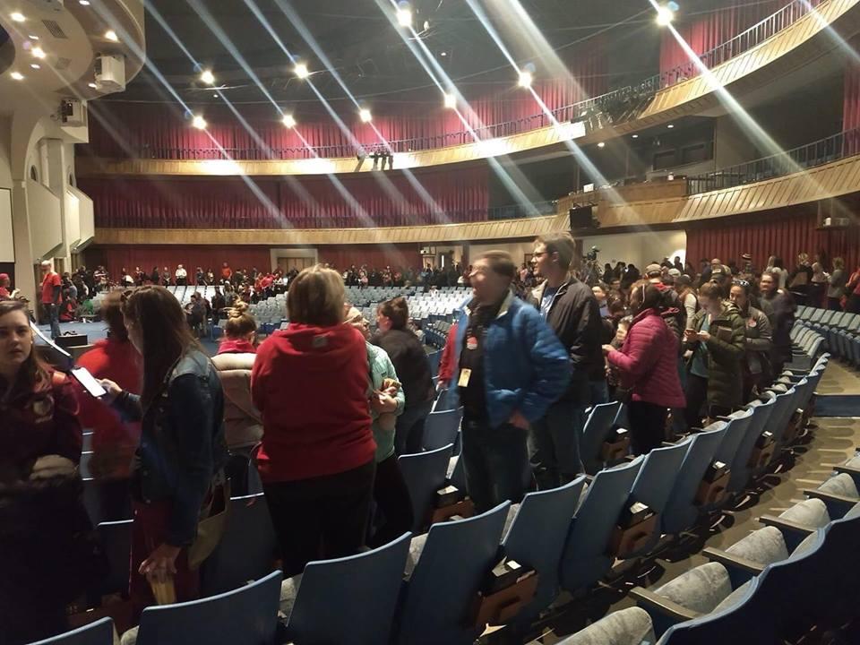 Denver teachers vote on strike. Photocredit: Cat DiNunzio