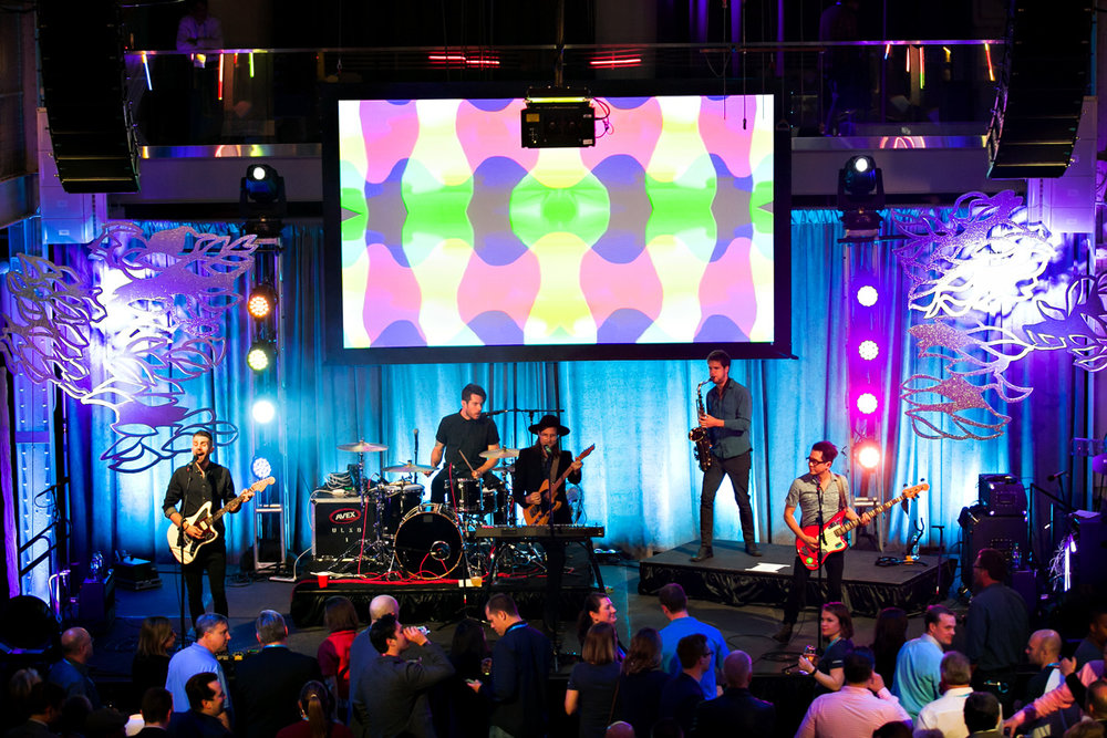 AVEX made sure to incorporate the technology into the design of the main event and made sure to match the screen content to the performance when not in use for the presentations or social media portions.