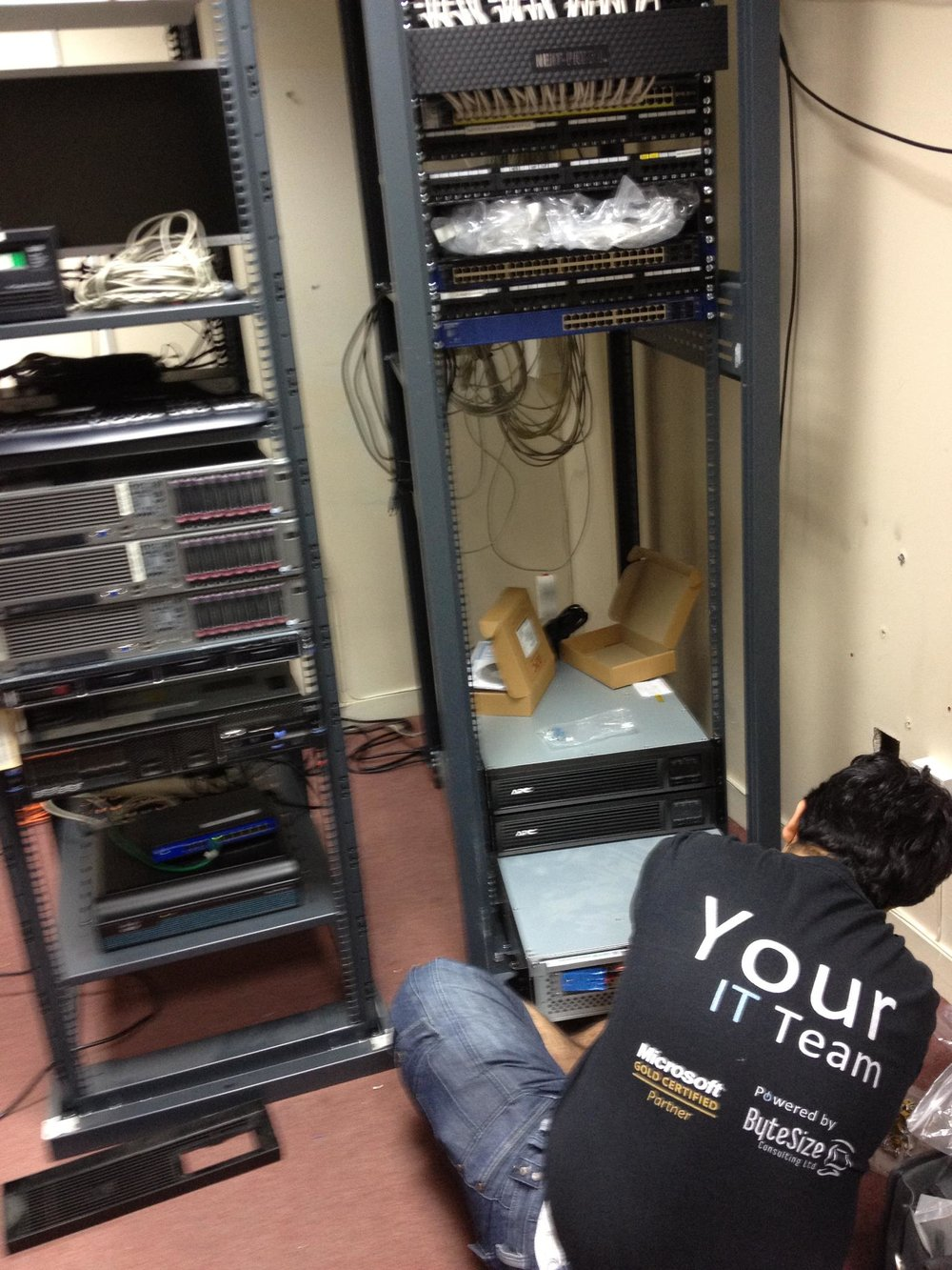 Major server room restructuring for a Pharmaceutical client