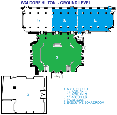 waldorf hilton - ground level