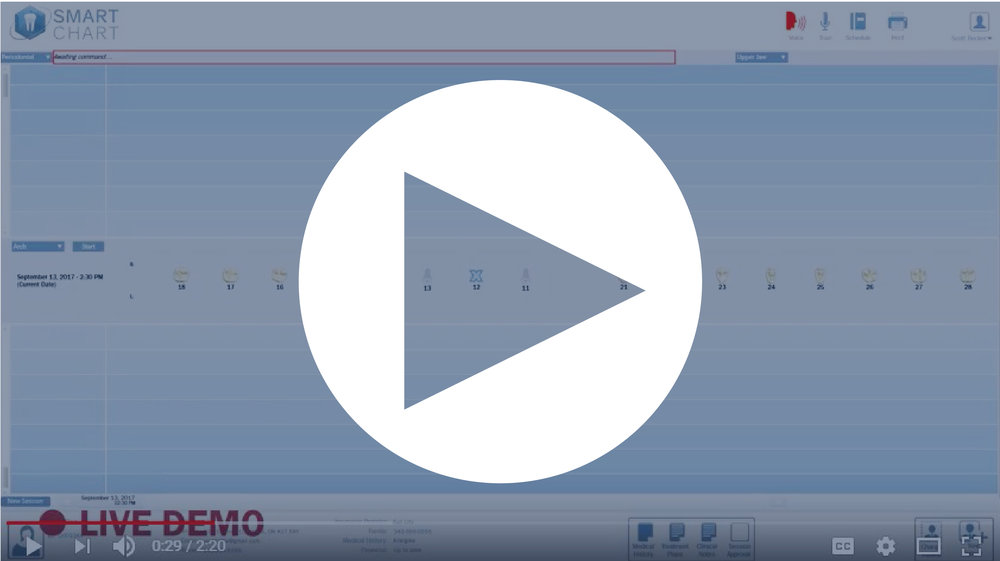 Take a look at our SmartChart™ Periodontal Charting Demo Video