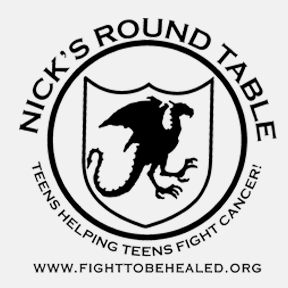 Nick's Round Table, Black and white logo