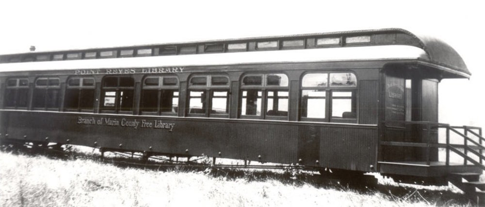 The Point Reyes Station Branch of the Marin County Free Library, located in a railway coach, 1931