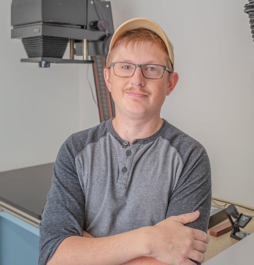 Daniel in the darkroom.
