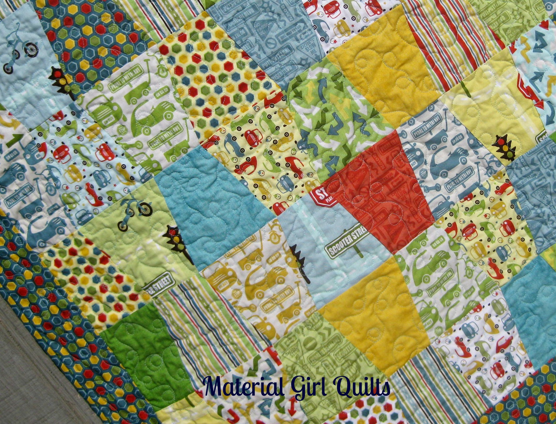 Tumble and Cruise quilting