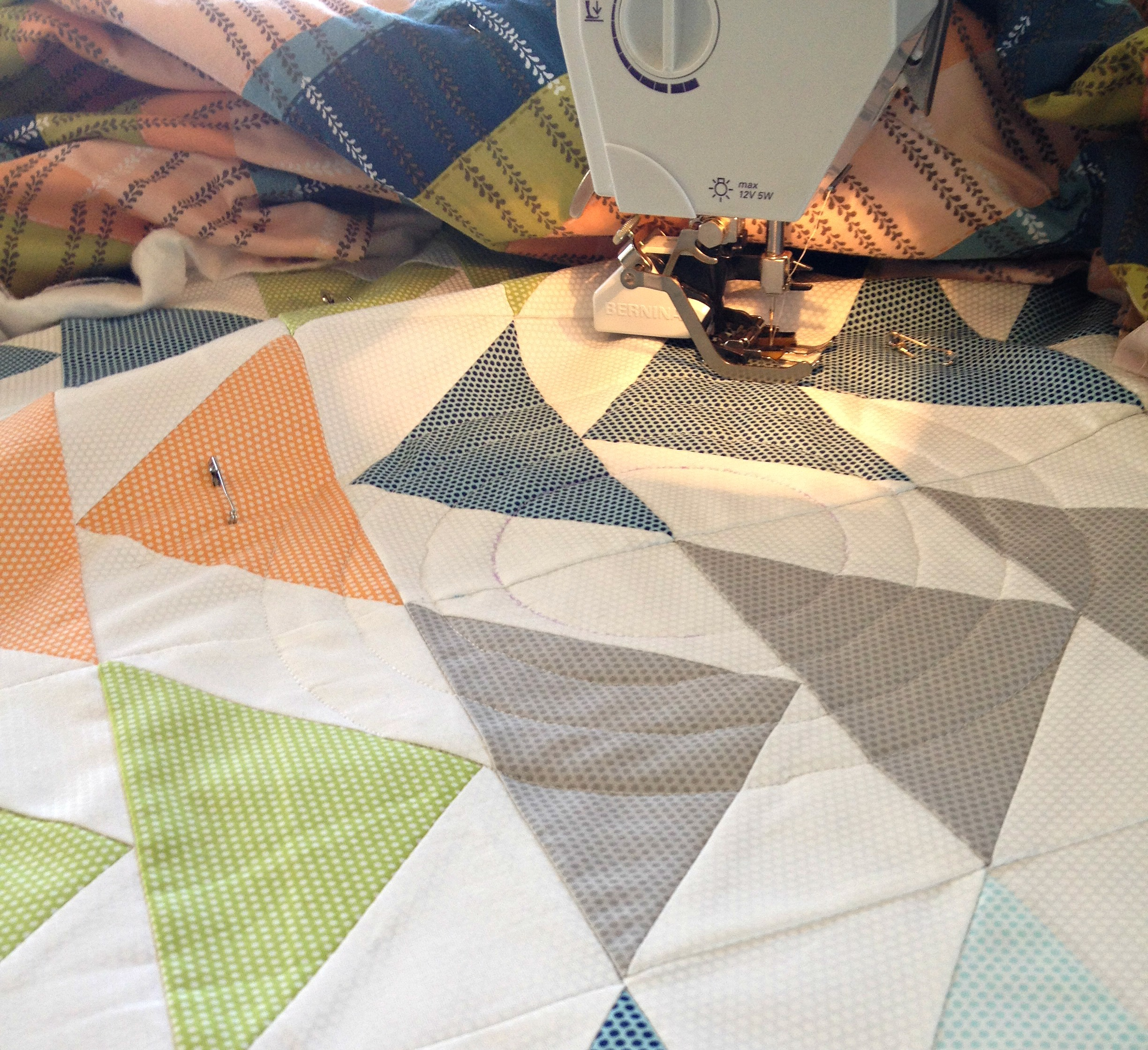 Happy Geese start of quilting