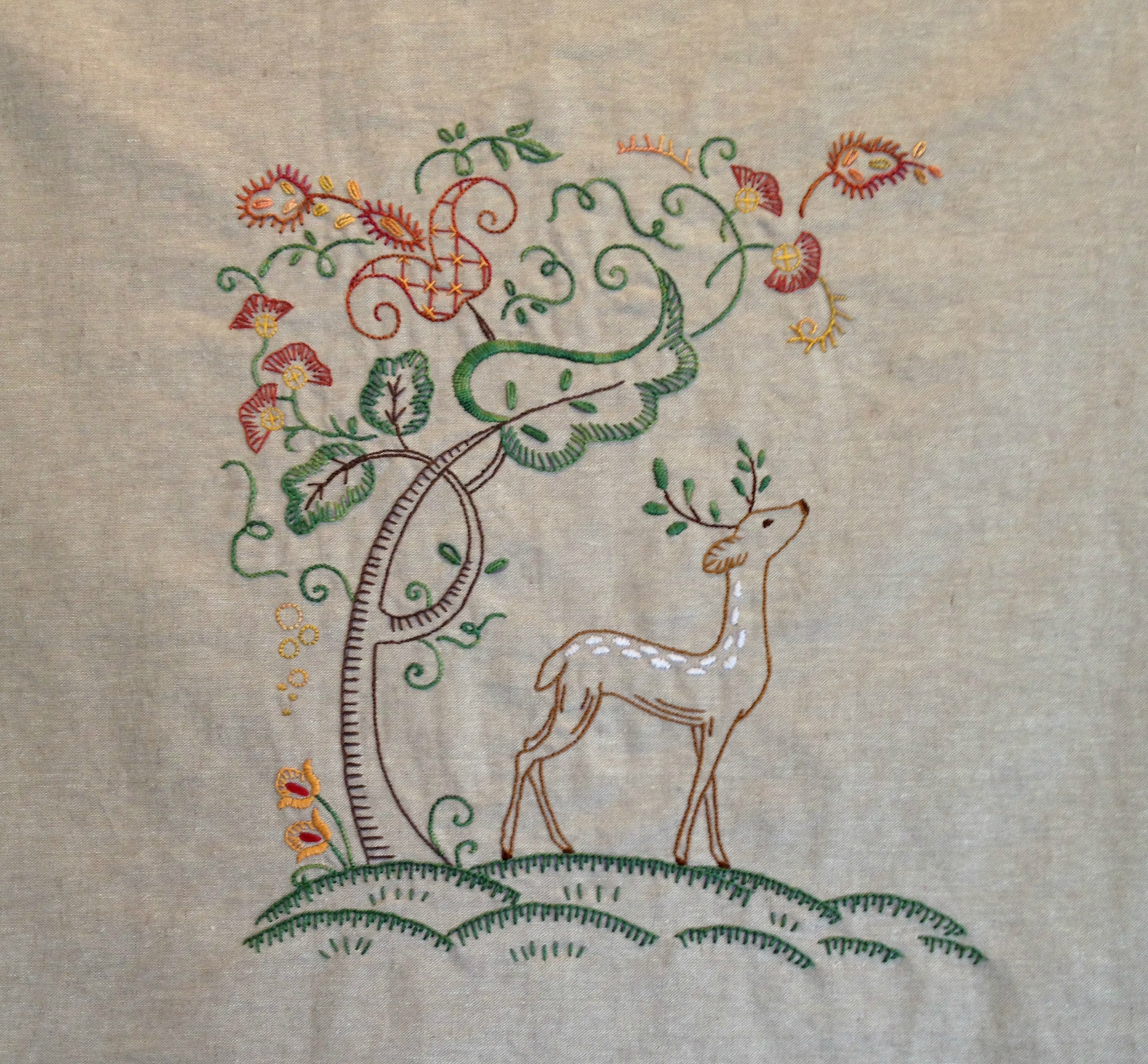 Finished embroidery