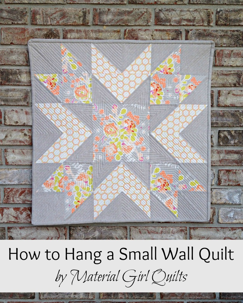 How to Hang a Small Wall Quilt