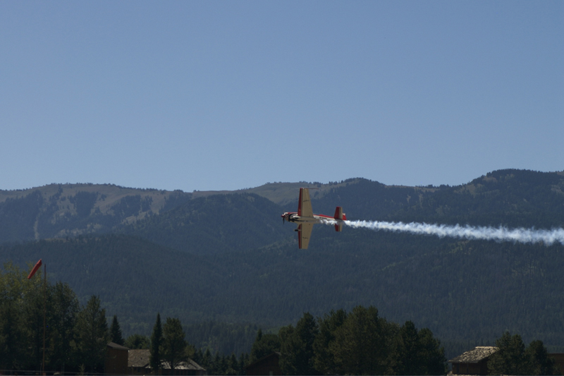 Extra 300 L smoke over teton valley