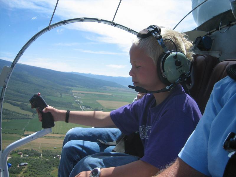 Bell 47 kid pilot