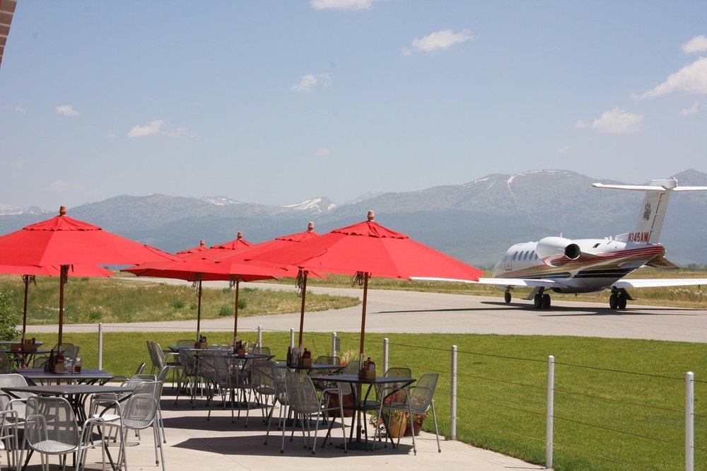 Driggs Airport FBO Jet on tarmac