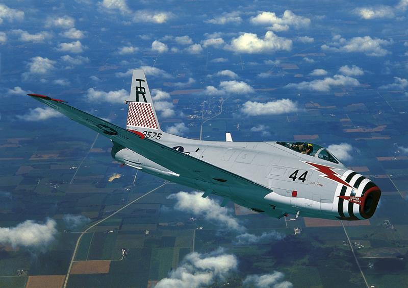FJ-4 Fury flying blue sky