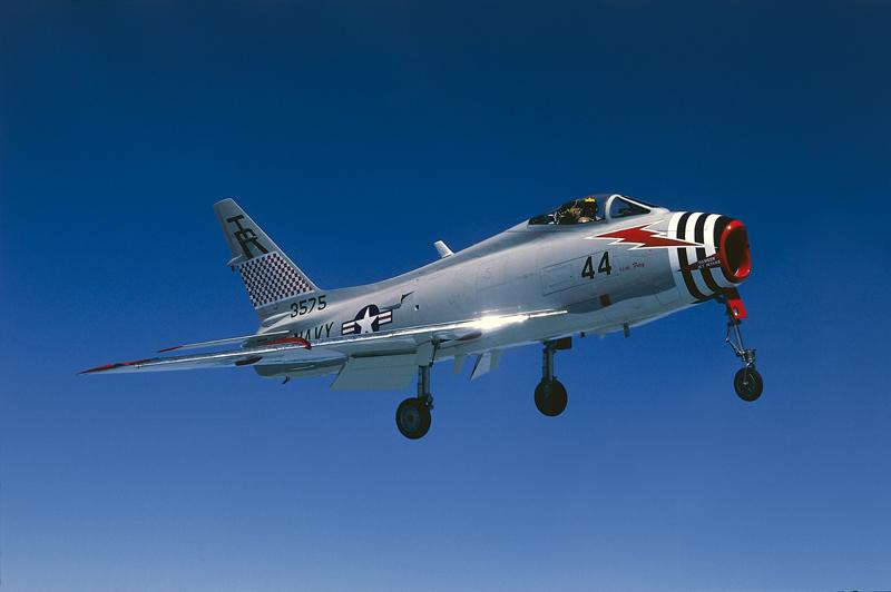 FJ-4 Fury landing gear down