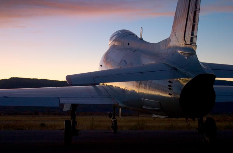 North American FJ-4 Fury sunset