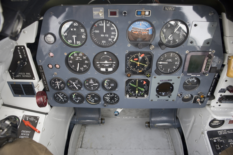 North American T-28 Trojan cockpit