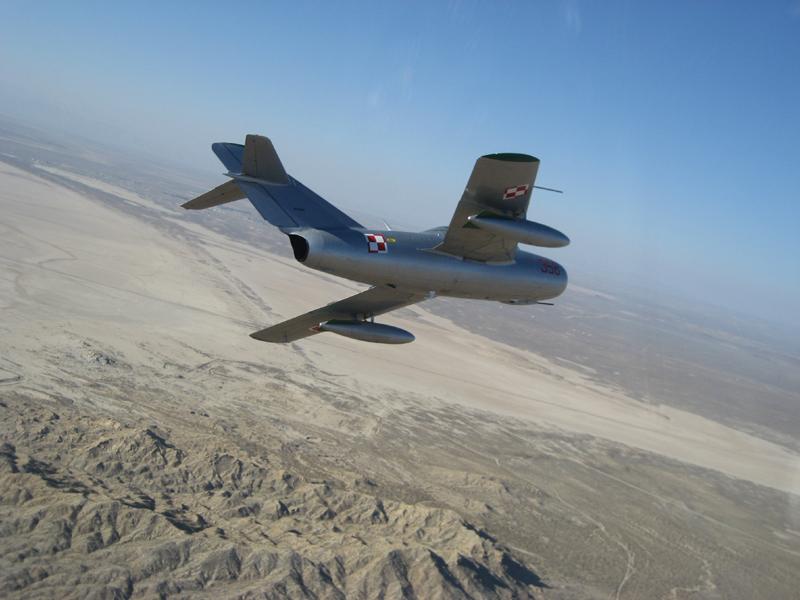 Mikoyan-Gurevich MiG-15 over desert
