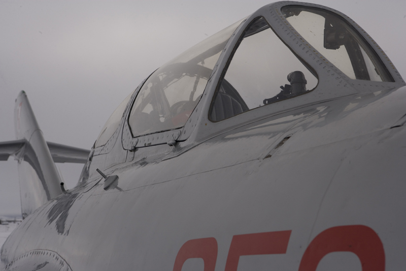 Mikoyan-Gurevich MiG-15 cockpit closed