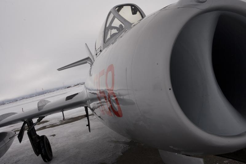 Mikoyan-Gurevich MiG-15 runway and intake