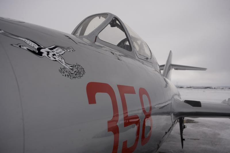 Mikoyan-Gurevich MiG-15 runway cockpit