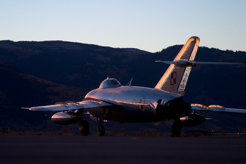 Mikoyan-Gurevich MiG-17 at sunset