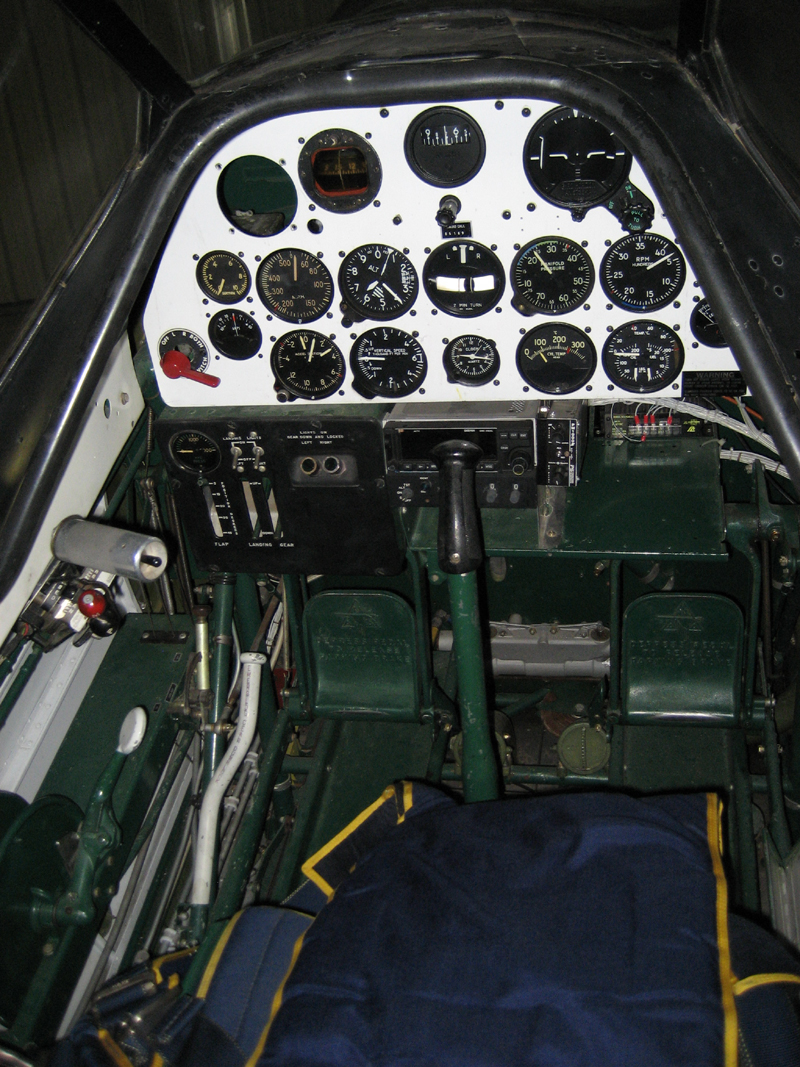 North American T-6 Texan SNJ cockpit