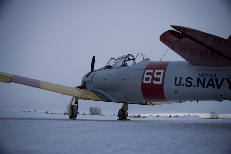 North American T-6 Texan SNJ ready for takeoff