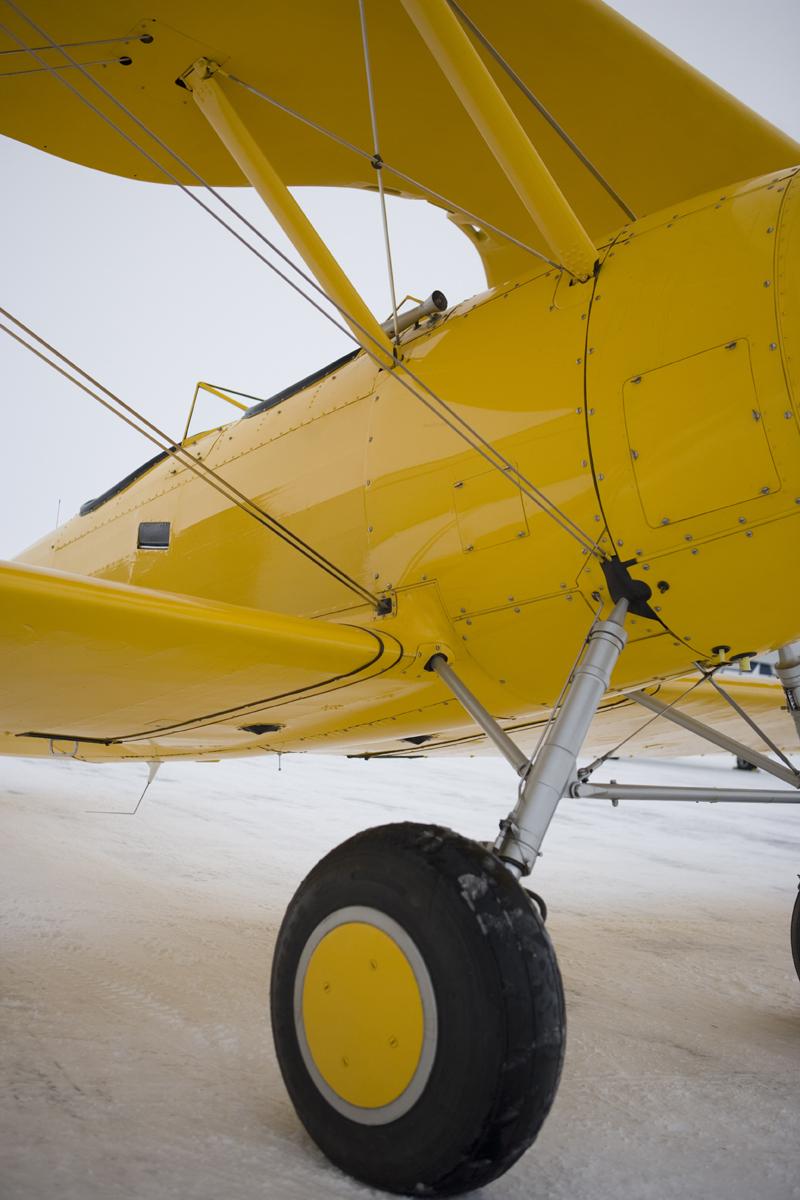 Naval Aircraft Factory N3N biplane yellow