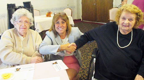 Selectwoman Caroline Colarusso meets with residents on seniors' issues