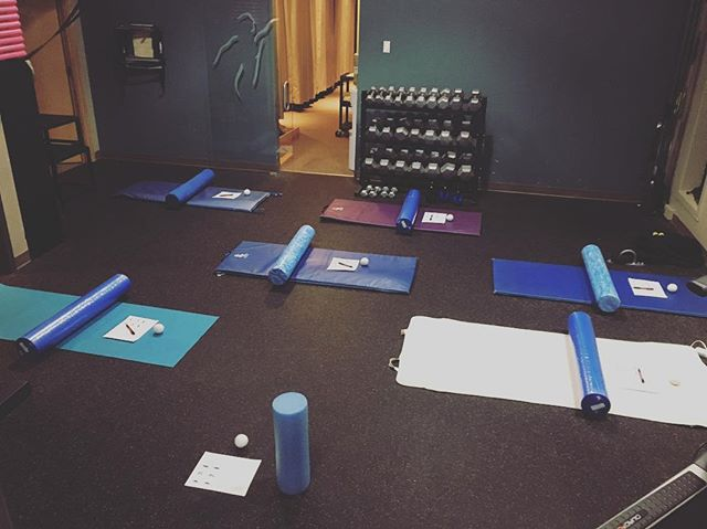 Foam rolling seminar led by Athletic Therapist Jenn Heaver about to commence @ NPSIC! #foamrolling #pliability #rangeofmotion #bloodflow #scartissue #selfmassage #warmup #cooldown #mobility