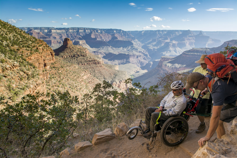 AdvenChair 1.0 early prototype at the Grand Canyon.