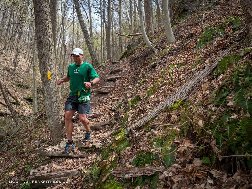 Craig Fleming, PA Trail Dog & Hyner Race Director on Huff Run.