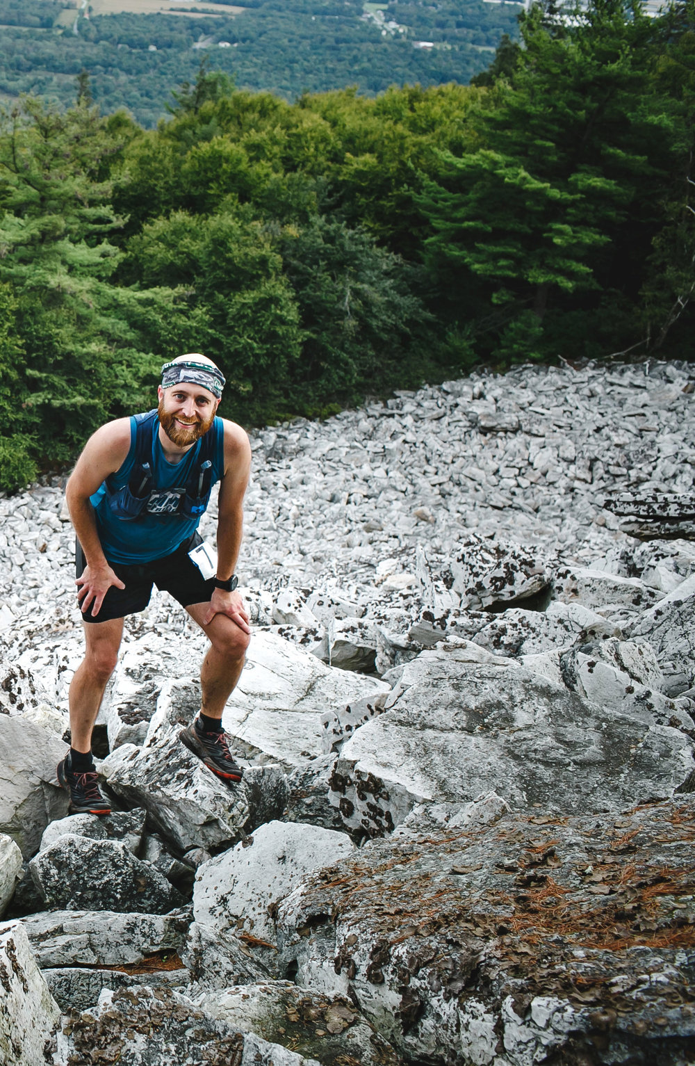 PA Trail Dog Lee Arbogast, ripping up the 2018 Boulder Beast course in his La Sportiva Akashas.