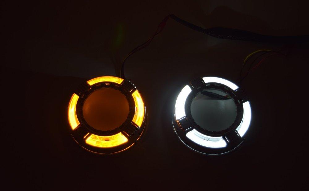 Quadrod Switchback LED Amber and White
