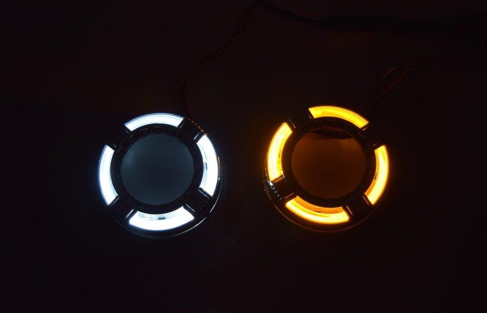 Quadrod Switchback LED White and Amber