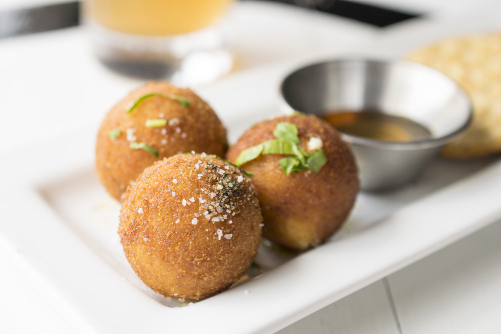 Fried Goat Cheese Balls and Honey