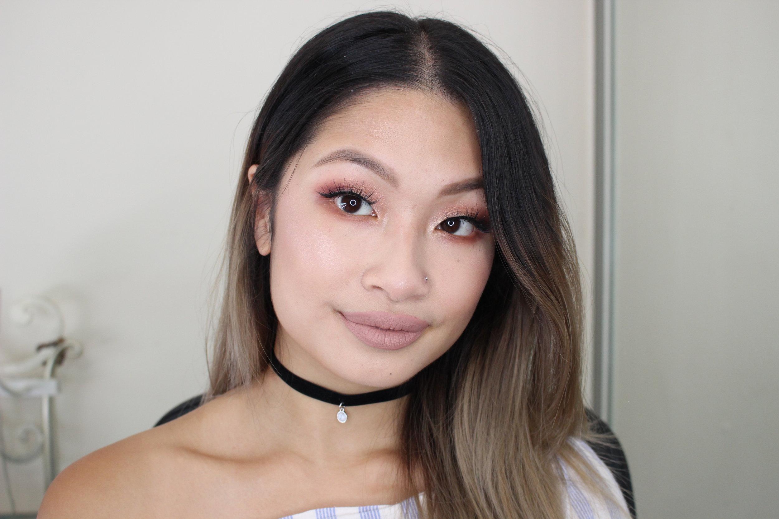 valentine's day monolid makeup