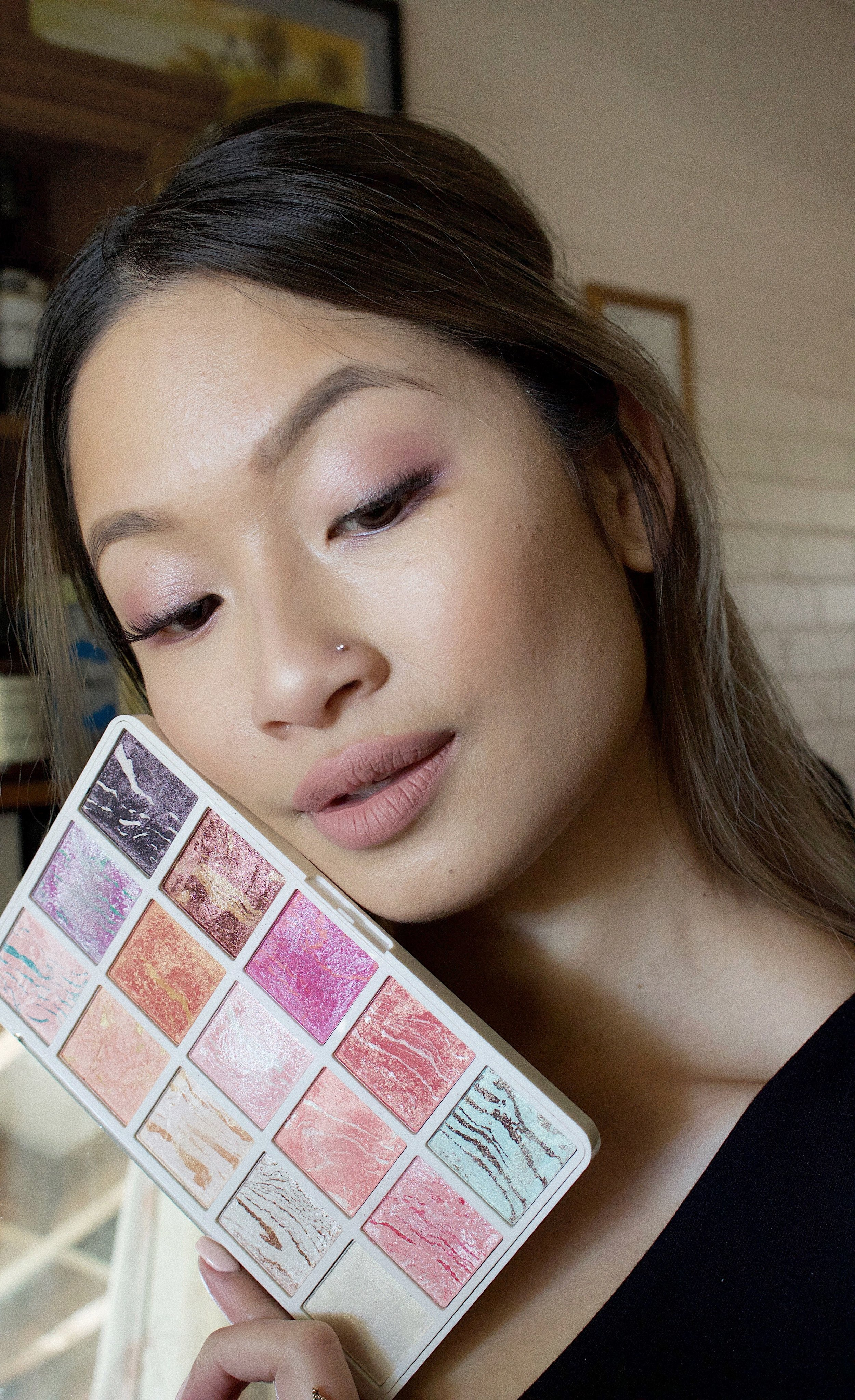 mecca beauty queen palette with makeup look