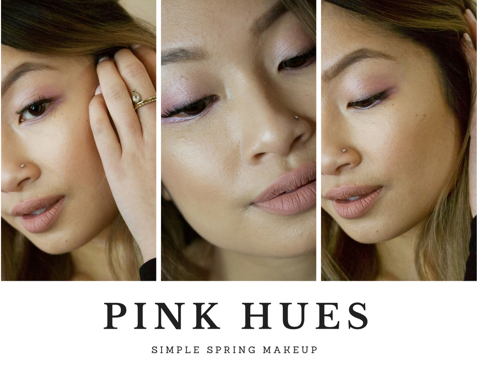 pink hues spring makeup