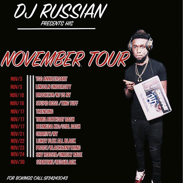Big up all my IG friends and followers, I'm launching my very first tour big up to all promoters for believing in the brand to bring professionalism and class to there event. The November Tour is a small portion of a much bigger dream. Thank you again 🙏 #NOVEMBERTOUR